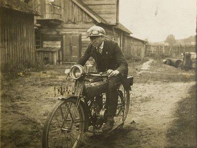 """Nuotrauka """"Kaimo motociklininkas"""""""