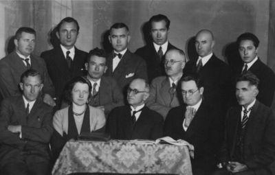 Kultūros draugijos Aukuras, veikusios  1922-1939 m. Klaipėdoje, valdyba