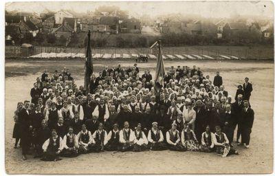 """Marijampolės """"Pavasario"""" kuopos metinė šventė. 1929 m."""