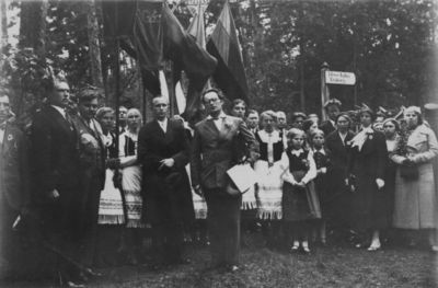 Klaipėdos krašto jaunimo draugijų suvažiavimas ant Ievos kalno Juodkrantėje
