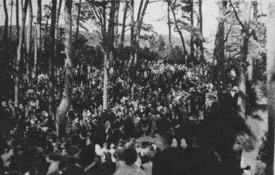 Klaipėdos krašto jaunimo draugijų šventė Juodkrantėje ant Ievos kalno