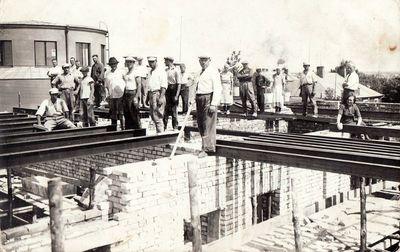 Panevėžio apskrities ligoninės gydytojo Stasio Mačiulio namo statyba