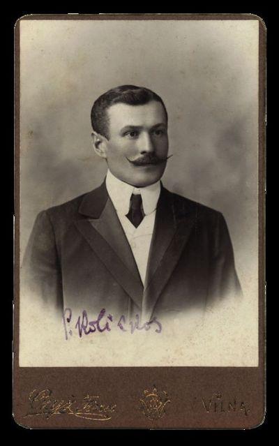 Nežinomo vyro portretas su įrašu P. Kalickas