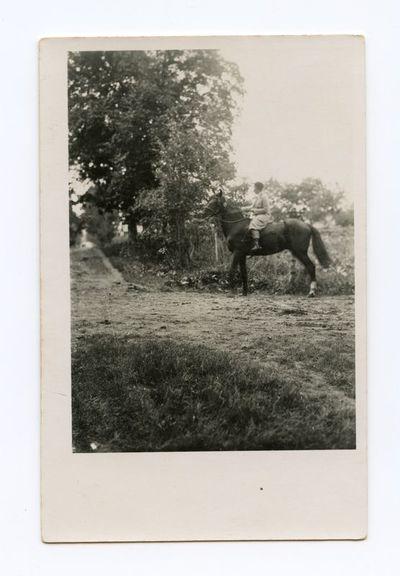 Gražutė Šlapelytė ant žirgo