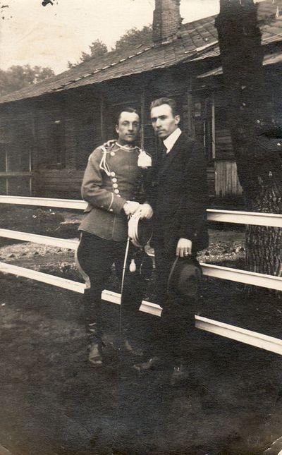 Fotografas Jonas Žitkus su broliu Boleslovu Žitkevičiumi