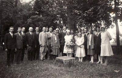 Panevėžio mokytojų seminarijos 1923 m. laidos absolventų ir mokytojų susitikimo dalyviai