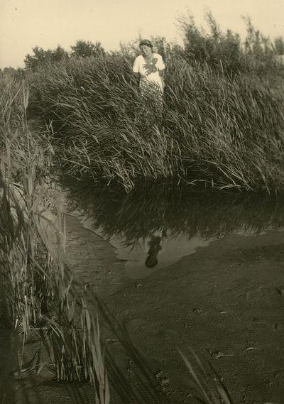 Gražutė Šlapelytė Palangos kopose po liūties