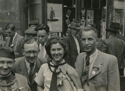 Aloyzas Sirutis su draugais Čekijoje