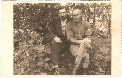 Julijonas Bogušas su nežinomu vyru