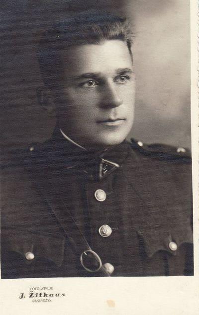 Lietuvos kariuomenės kario M. Bačiulio portretas