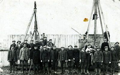 Plungės linų fabriko statyba