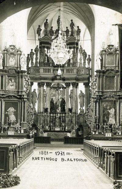 Kretingos bažnyčios altoriai