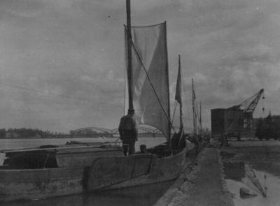 Kuršių marių žvejų laivai Tilžės prieplaukoje