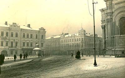 Nepriklausomybės aikštė žiemą. Kaunas