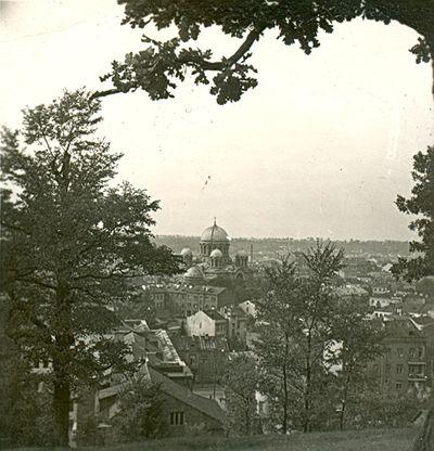 Kauno miesto panorama nuo Žaliakalnio pusės