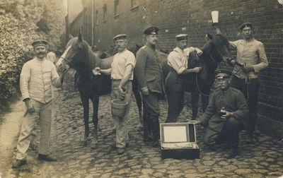 Caro kareiviai prie arklių
