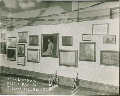 Pirmoji lietuvių dailės paroda Čikagoje