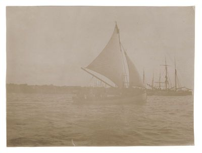 """Fotografija """"Buriniai laivai jūroje"""""""