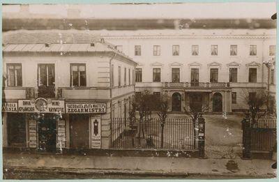 Branickių rūmai, fotografuoti pro Kosakovskių rūmų valgomojo langus