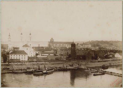 Kauno senamiesčio panorama nuo Aleksoto pusės