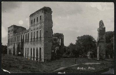 Biržų pilies griuvėsiai