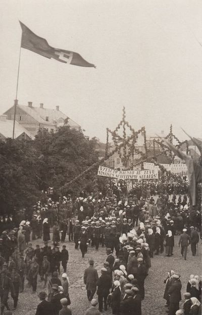 Vytauto Didžiojo vėliavos pakėlimo ceremonija Panevėžyje