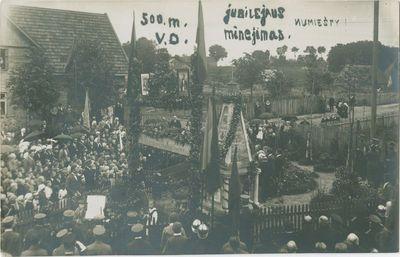 Vytauto Didžiojo vėliavos pakėlimas Žemaičių Naumiestyje