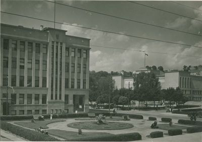 Žemės banko rūmai ir Vytauto Didžiojo karo muziejus