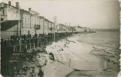 Kauno Nemuno krantinė potvynio ir ledo sangrūdų metu