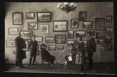 Antanas ir Aldona Kazanavičiai savo parodoje