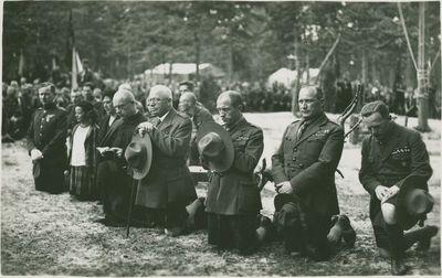 Skautų malda Lietuvos skautų sąskrydyje Žolinės dieną