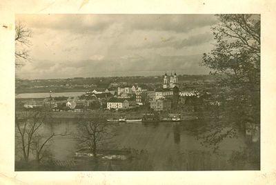 Kauno senamiesčio panorama iš Aleksoto pusės