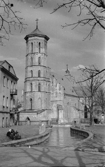 Potvynis ties Vytauto bažnyčia. Kaunas