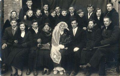 Alfonso Juškausko ir [Teofilės] Nedzinskaitės vestuvės