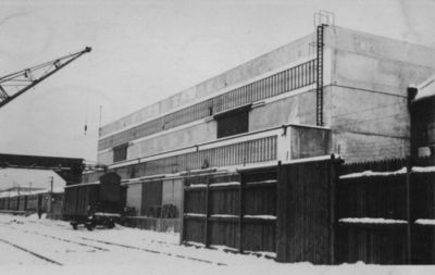 Lietuvos banko sandėlio statyba Klaipėdos Žiemos uosto rajone