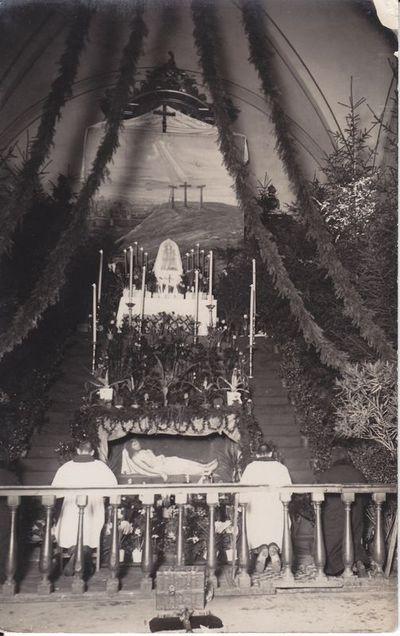 Marijampolės Šv. arkangelo Mykolo mažosios bazilikos  Velykinis altorius 1929 m.