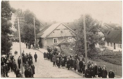 Bažnyčios gatvė Marijampolėje 1927 m.