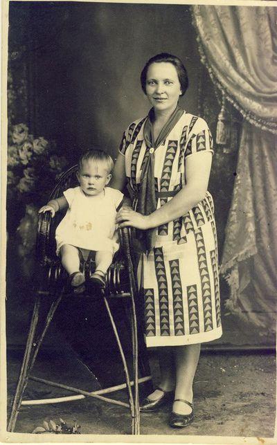 Žiaunienė Domicėlė su dukra