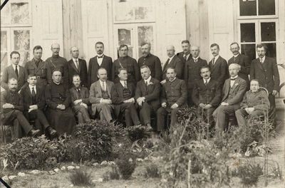 Alytaus miesto valdžios atstovai su ministru pirmininku K. Griniumi ir jo kabineto nariais