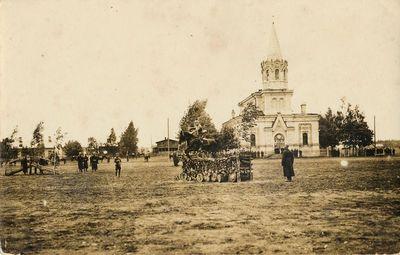 Kariuomenės šventė prie įgulos bažnyčios Alytuje