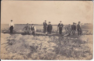 Geležinkelio ruožo Marijampolė - Kazlų Rūda tiesimas 1922 m.