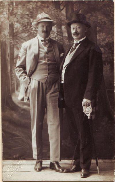 Broliai Mikas (dešinėje) ir Kipras Petrauskai