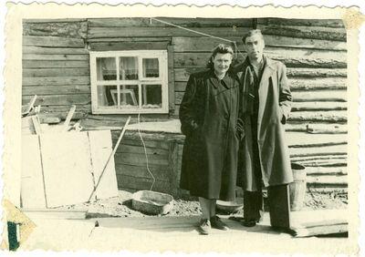 Politiniai kaliniai Marijona ir Pranas Poškai Intoje.