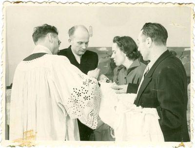 Politinio kalinio, Stasio Vitkaus, dukters krikštynos