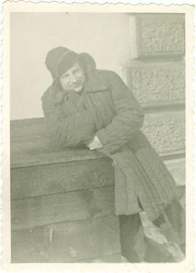Politinis kalinys Juozas Avižienis su lagerio uniforma