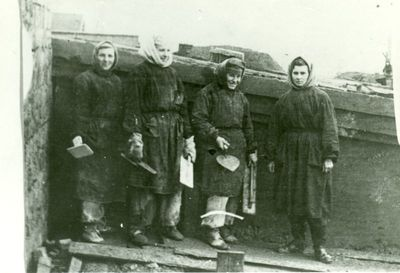 Politinės kalinės Vorkutos lageryje darbo metu
