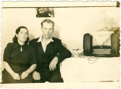 Politinis kalinys Stasys Garšva su žmona Vorkutoje