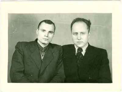 Vorkutos lagerio politiniai kaliniai Jonas Dailidė ir Vytautas Kasperavičius