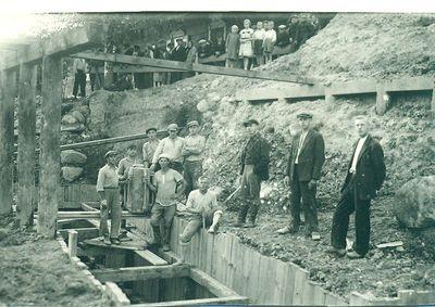 Tilto per Kupą statyba 1937m.