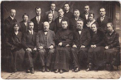 Marijampolės Rygiškių Jono gimnazijos mokytojai 1924 m.